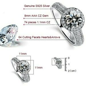 Lucky's Lady Jewelry - Round Halo with Pave Diamonds Engagement Ring